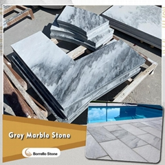 gray marble pool coping