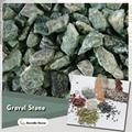 green stone gravel for garden