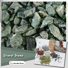 green stone gravel for garden