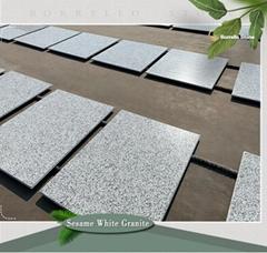 polished white granite wall cladding