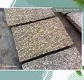 yellow rusty natural granite stone