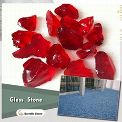crystal color glass rock for craft
