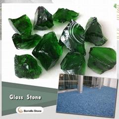 landscaping color glass rocks
