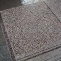 flamed pink granite paving slab