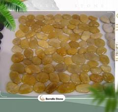 mesh back stone pebble mosaic