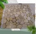 polished river stone pebble tile