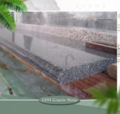 dark grey granite windowsill
