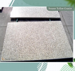 golden sesame granite tile