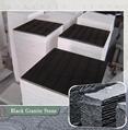 pure black granite thin tile