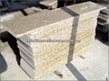 Tiger skin yellow granite cube