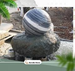 garden stone water feature
