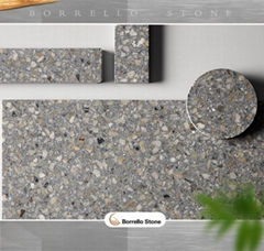 polished terrazzo tile for countertop