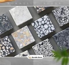custom cement terrazzo floor tile
