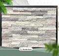 grey marble stone ledger panel