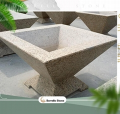 marble and granite stone planter