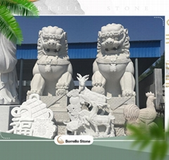 Chinese marble stone lion statues