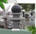 garden stone granite rotating fountain