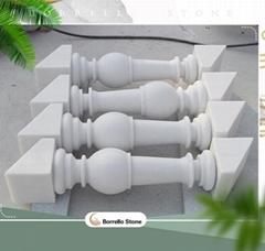 white marble stone handrill