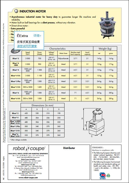 robot coupe 乳化搅拌机 5
