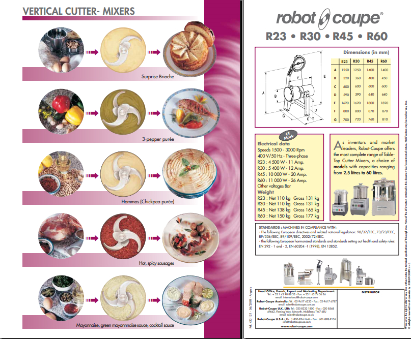 robot coupe直立剁碎机 4