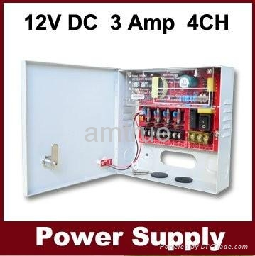直流12V3A四分路監控電源 (SIWD1203-04C) 1