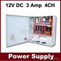 cctv power supply,12vdc 3amp 4channel cctv camera power supply(SIWD1203-04C)