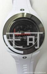Wholesale - Men's Analog - Digital Multi-Functional Black Rubber Band LCD