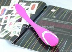 Flexible G spot vibrator