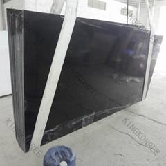 Pure black quartz stone slab