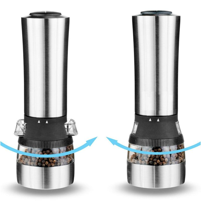 2 functions electronic pepper mill with light 3