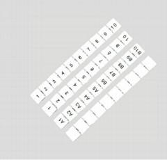 端子标记号码条
