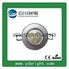 Residential Silver 3W LED Ceiling Light