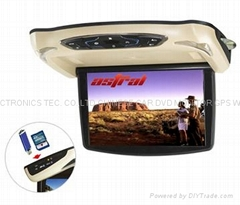 13.3inch roof mount dvd player