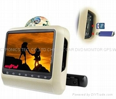 9inch headrest dvd player with touch panel and bracket