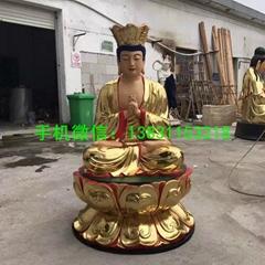 長壽地藏王菩薩貼金彩繪