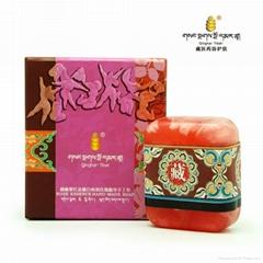 藏秘紫红盐嫩白沁润玫瑰精华手工皂