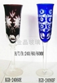 engraved glass Goblet