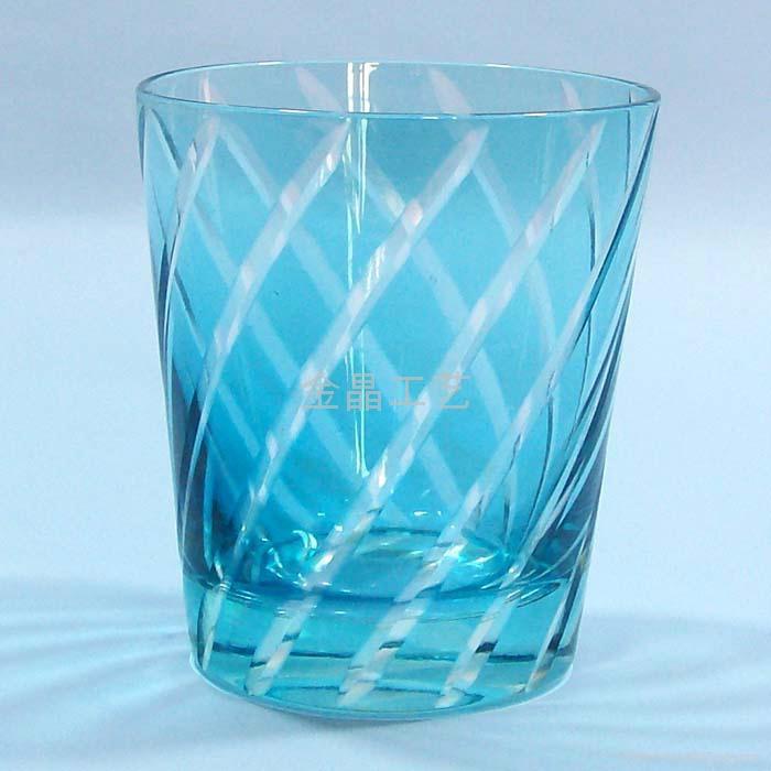 套料刻花工艺玻璃果汁杯 1