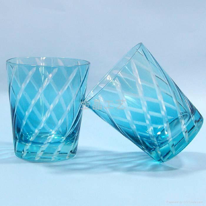 套料刻花工艺玻璃果汁杯 2