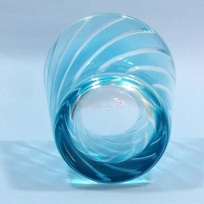 套料刻花工艺玻璃果汁杯 3