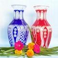 Factory Direct handmade modern art kiriko yellow crystal crafts vase 1