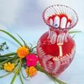 Factory Direct handmade modern art kiriko yellow crystal crafts vase 3