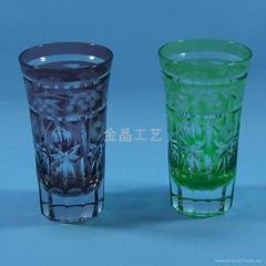 Handmade High quality Carving Craft wine glass