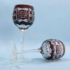 Handmade High quality glass Craft   Champagne Glass Cup