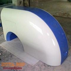 Fiberglass machine cover