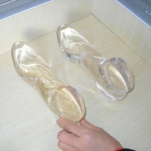 Clear Custom High Heel Acrylic Foot Display Resin