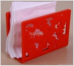 Colorful  Acrylic Tissue  Case Plexiglass Customized Shape Napkin Holder