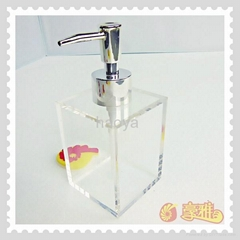 Hot Sales Customize Clear Acrylic  Soap Bottle Pmma Lotion for Bathroom