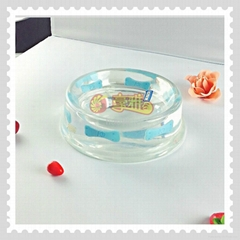 Hot Sales Clear Stylish Acrylic  Pet Bowl Resin Pet Bowl  for Dog and Cat