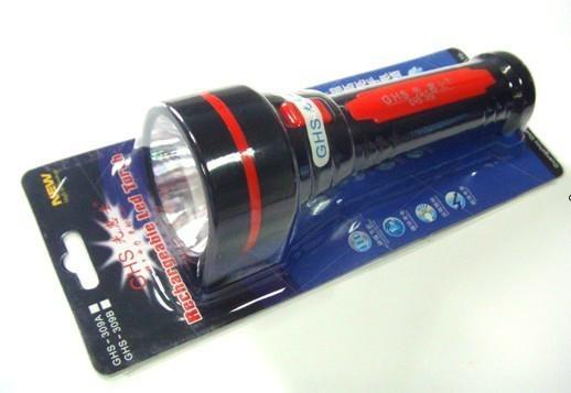 新款LED塑料充電手電筒 1